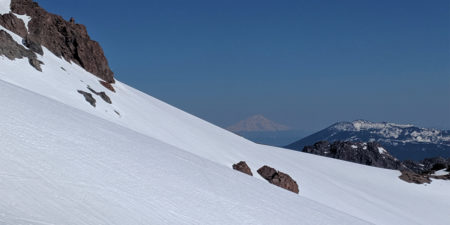 Climbing Mt. Lassen with view of Mt. Shasta April 2019 Photo by Dani Reyes-Acosta Thumbnail